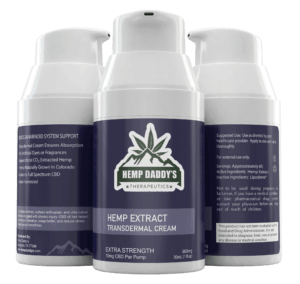 CBD Pain Cream Transdermal Lotion made from USDA Organic Hemp